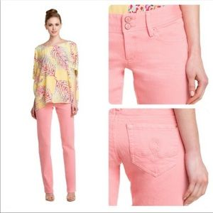 Lilly Pulitzer Worth Sherbet Straight Jeans Size 4